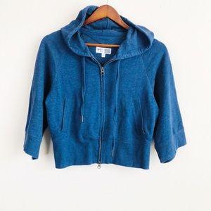 VSX Victoria Sport dark blue cropped hoodie - XS